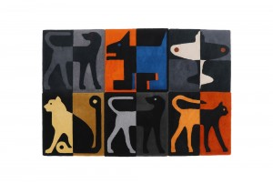 Range of Richard Killeen Square Maquette Rugs for Dilana