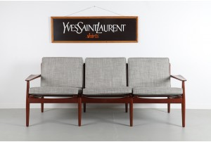 Arne Vodder Teak 3 Seater Sofa for Glostrup