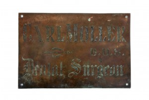 Vintage Industrial Copper Sign