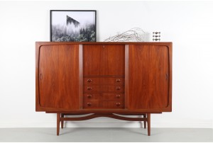 Danish Teak Tall Sideboard