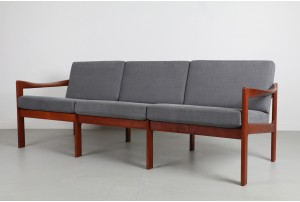 Illum Wikkelso Teak Sofa for N. Eilerson