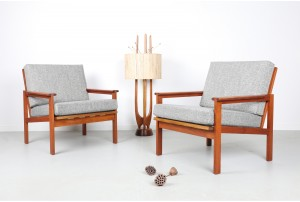 Illum Wikkelso 'Capella' Armchairs for N. Eilersen
