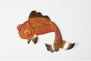 Masketeers Goldfish Wall Sculpture