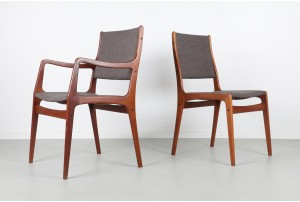 Six Johannes Andersen Dining Chairs