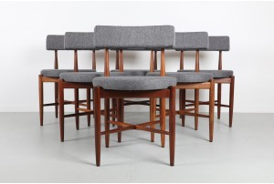 Six G-Plan 'Fresco' Round Dining Chairs