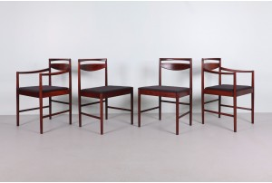 Eight McIntosh Rosewood Dining Chairs