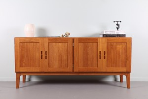 Refined Solid Teak Danish Sideboard