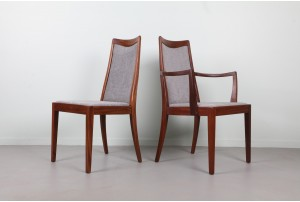 Six Upholstered G-Plan Fresco Dining Chairs