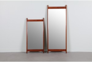 Sculpted Danish Teak Mirrors