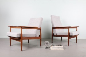 Pair of Guy Rogers 'Manhattan' Armchairs