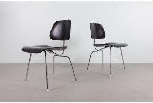 Six Charles & Ray Eames 'DCM' Chairs for Herman Miller