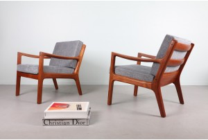 Pair of Ole Wanscher 'Senator' Armchairs
