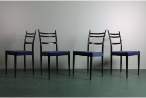 Four G-Plan 'Tola and Black' Dining Chairs