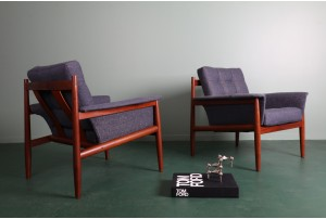 Grete Jalk Model 118 Armchairs by Backhouse