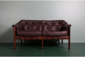 Arne Norrell Leather Sofa for Coja
