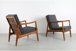 Pair of Ole Wanscher 'Model 109' Armchairs