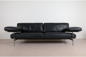B&B Italia 'Diesis' Leather Sofa