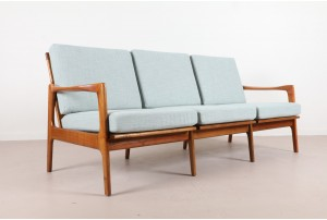 Illum Wikkelso Sculpted Danish Sofa