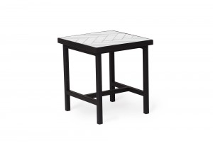 Warm Nordic 'Herringbone Tile' Side Table