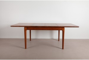 Glostrup Møbelfabrik Solid Staved Teak Dining Table