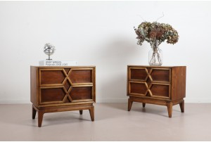 Pair of John Cameron 'X' Bedside Cabinets