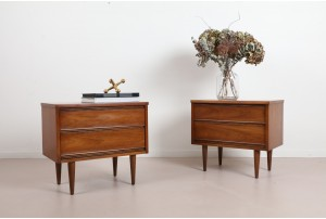 Pair of Harmony House American Bedside Cabinets