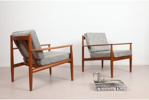 Pair of Grete Jalk Model 118 Armchairs