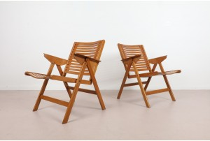 Pair of Vintage Rex Lounge Chairs by Niko Kralj