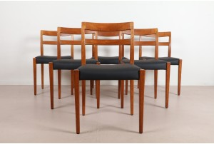 Six Troeds Teak Dining Chairs