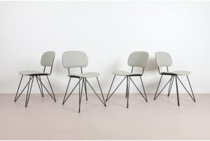 Four Graphic Garth Chester Dining Chairs