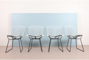 Four Harry Bertoia Dining Chairs