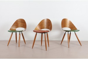 European Modernist Bent Plywood Chairs
