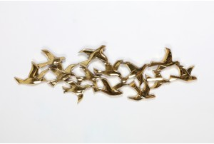 Syroco Gold Flock of Birds Wall Sculpture