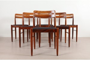 Six Rare Bramin Rosewood Dining Chairs