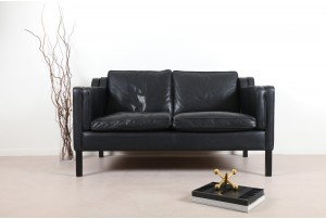 Stouby Mobelfabrik Black 2 Seater Sofa