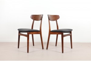 Four Henning Kjaernulf Rosewood Dining Chairs