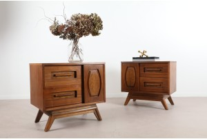 Pair of Young Manufacturing Co Bedside Cabinets