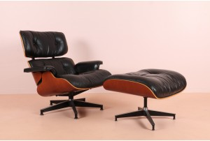 Authentic Eames Lounger 670 and Ottoman 671