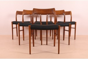 Six Danske Mobler 'Viking' Dining Chairs