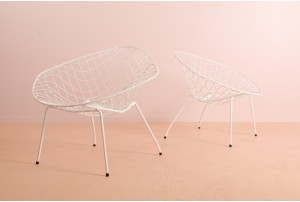 NZ Made Bertoia Inspired Chairs by Aries Furniture