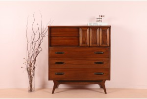 Mid-Century American Walnut Highboy
