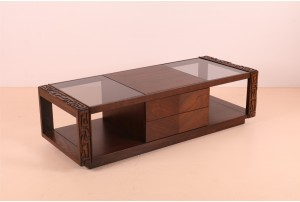 United Furniture Brutalist Walnut Coffee Table