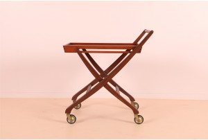 Danish Folding Teak Bar Cart