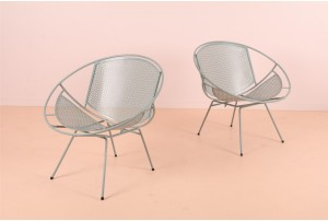 Sculptural Mid-Century Outdoor Chairs
