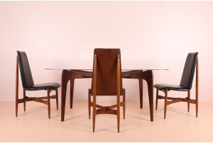 4x Highly Organic Kodawood Walnut Dining Chairs