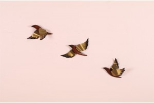 Set of 3 Masketeers Sparrows