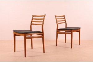 Six Dining Chairs by Erling Torvits for Soro Stolfabrik