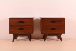 Pair of American Walnut Bedsides