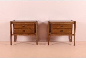 Pair of Drexel 'Composite' Bedside Cabinets
