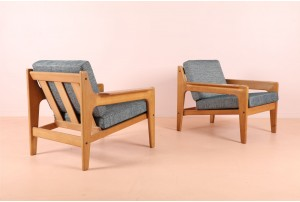 Pair of Arne Wahl Iversen Armchairs for Komfort